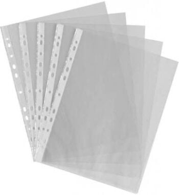 Clear Plastic Punch Punched Pockets Folders